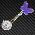 Purple Butterfly Nurses Fob watch