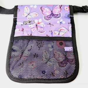 Purple Butterfly Pouch Front